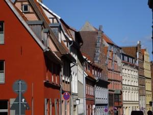 Giebelhäuser in Stralsund